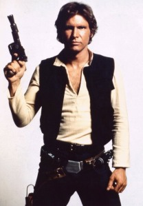Harrison Ford is Han Solo in Star Wars
