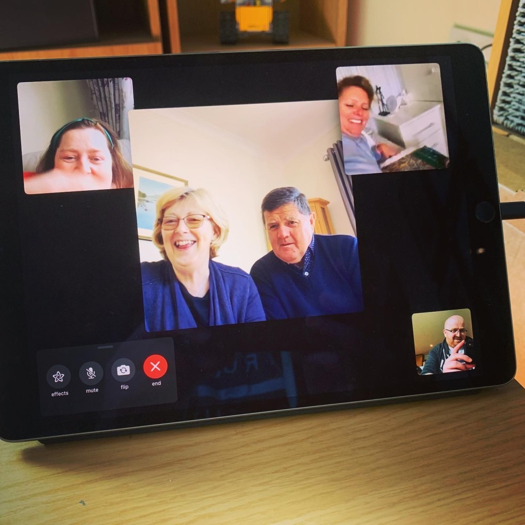 A photo of a FaceTime call I had with my family.